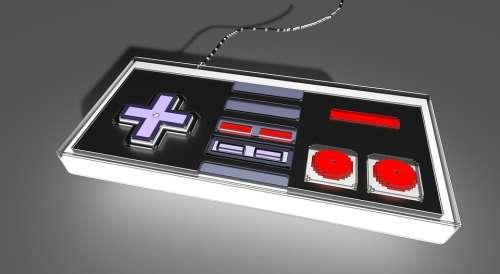 Voxel Nintendo Nes Control Videogame Gamer