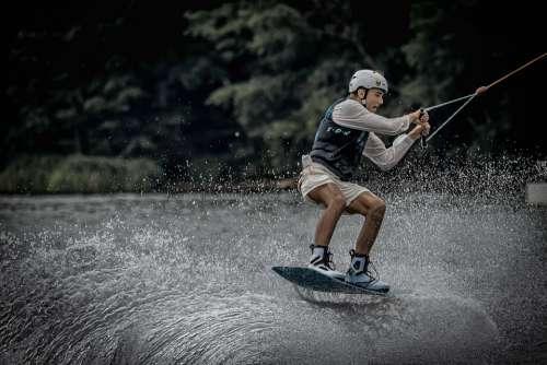 Wakeborden Sport Water Sports Water Surfer