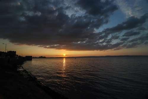 Water Sea Sun Ocean Summer Vacations Sunset