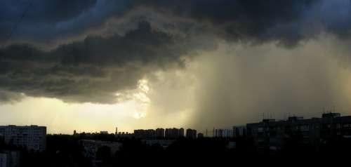 Weather Rain Hurricane Clouds