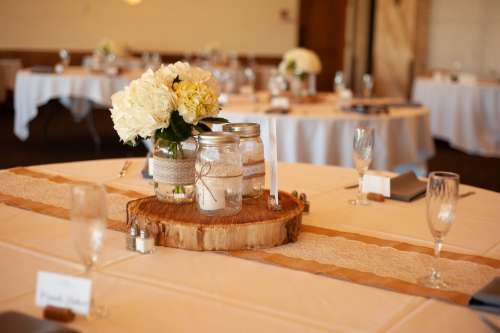 Wedding Candles Flowers Love Romantic Table