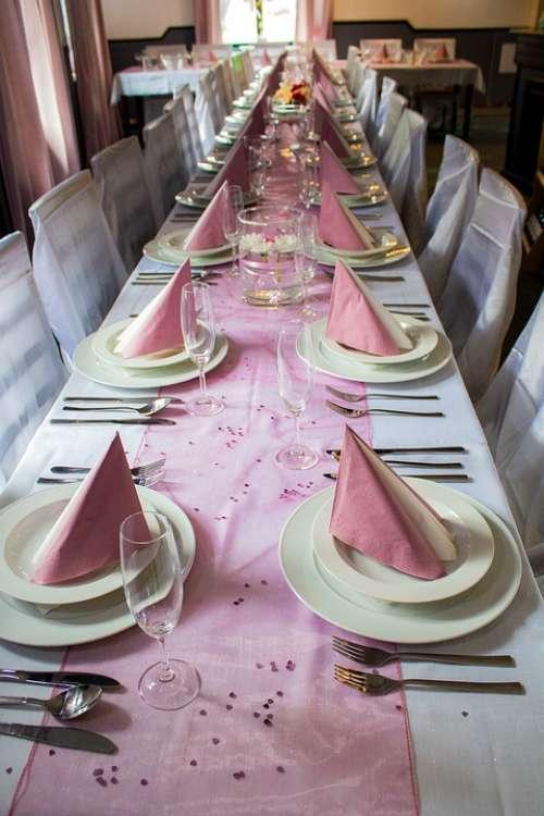 Wedding Sheet Celebration Board Festive Cutlery