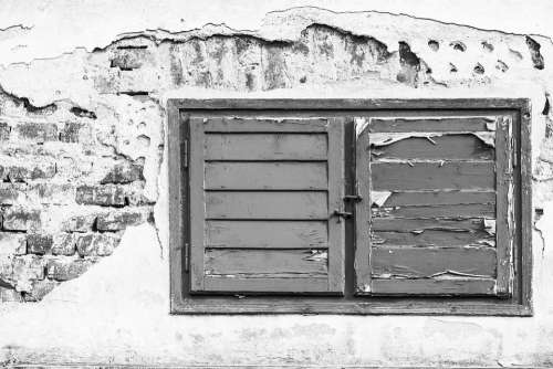 Window Wall Building House Facade Frame Old