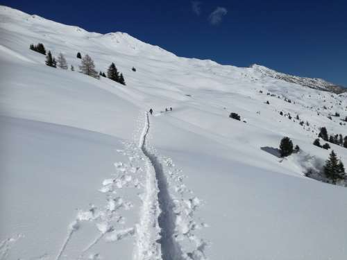 Winter Backcountry Skiiing Split Board Tour Summit