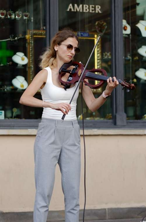 Woman Person Young Violin Violinist Perform Music