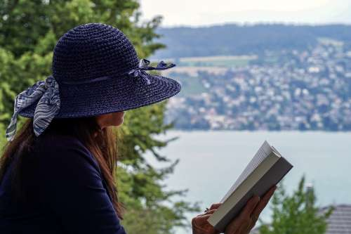 Woman Read Sit Person Literature Book Leisure