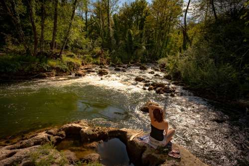 Woman River Nature Landscape Water Girl Person