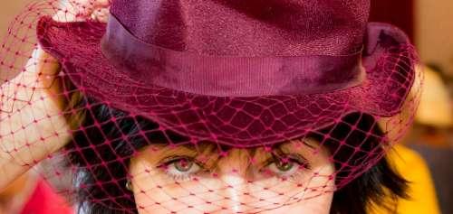 Woman Cap Veil Fashion