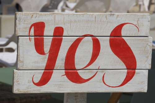 Yes Sign Positive Communication Approval