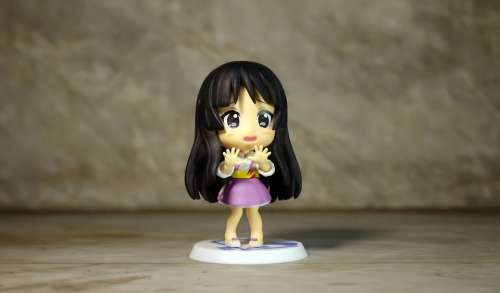 Young Student Pink Girl Female Toy Figurine Cute