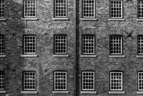 building windows symmetry monochrome glass