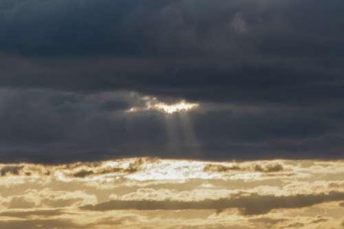 sunset sky clouds golden sunrise
