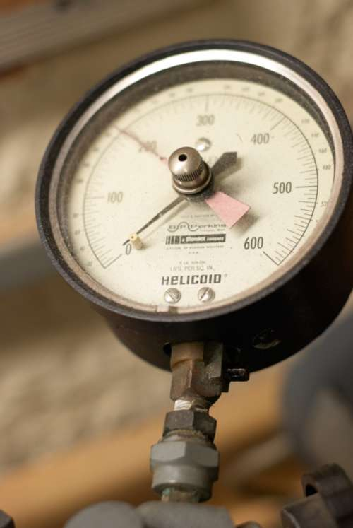 pressure gauge industrial close up control