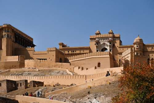 View of Amer Fort, India