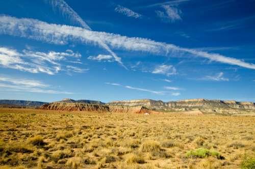 Blue Sky Over Desert Photo