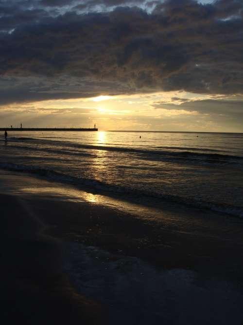 Dark Sea And Sky Photo