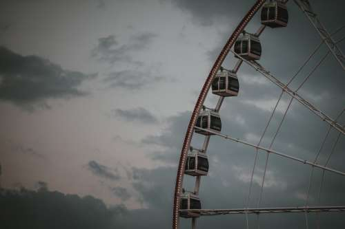 Ferris Wheel At Dusk Photo