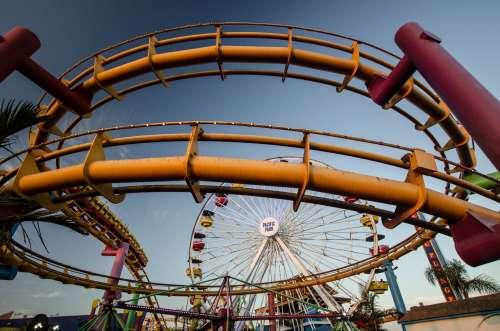 Metal Fairground Rides Photo