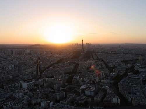 Paris At Sunset Photo