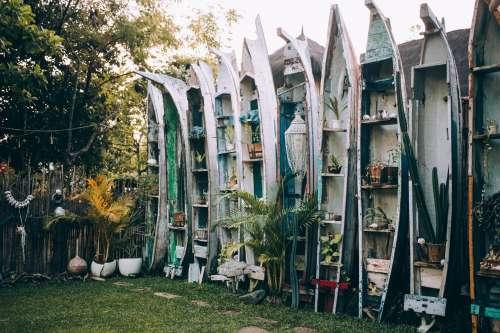 Reclaimed Canoes As Garden Decor Photo
