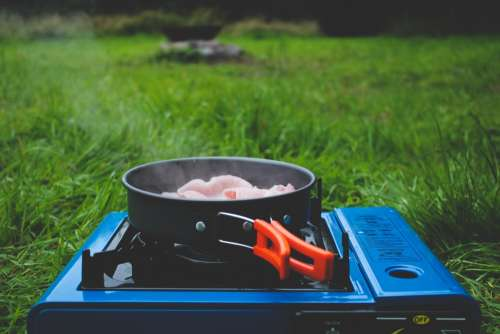 Sizzling And Camping Photo