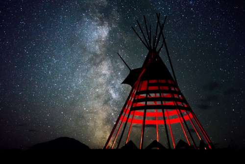 Starry Night In The Tipi Photo