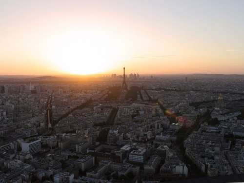 Sunset In Paris Photo