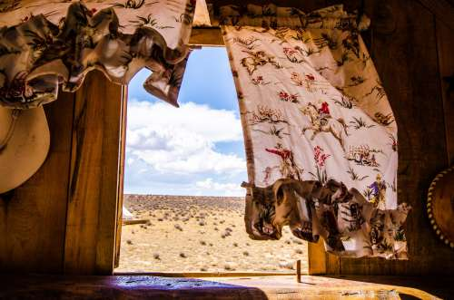The Plains Of The Wild West Seen From A Caravan Window Photo