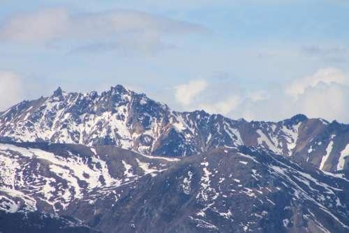 Alaskan Mountains scenery landscape