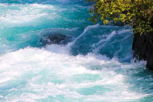 Rapids white water river New Zealand
