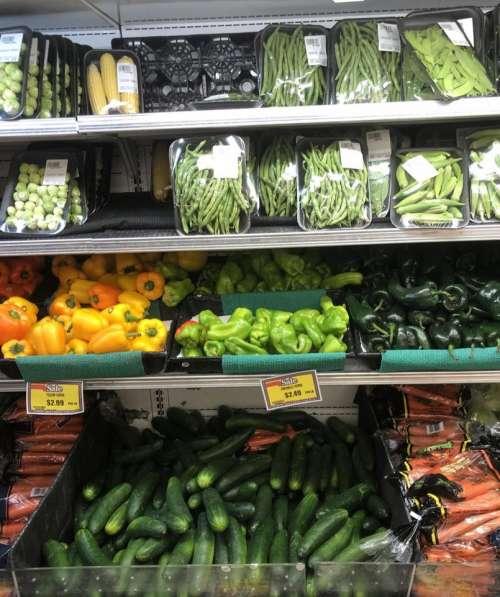 Produce market vegetables