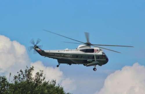 vehicle transportation helicopter chopper president