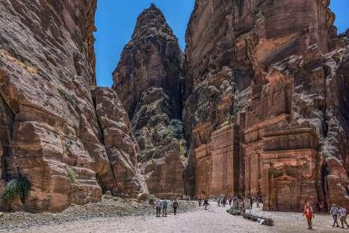Al Siq Canyon Canyon Gorge Travel Adventure Desert
