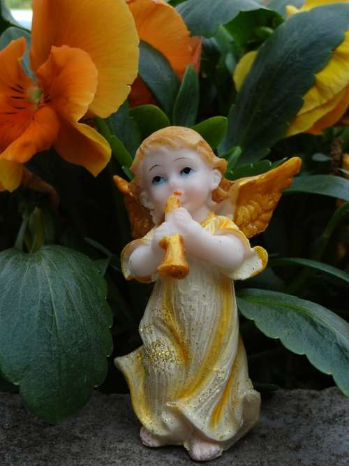 Angel Playing The Angel Heaven Faith Statuette