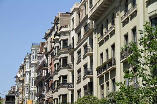 Architecture Spain Barcelona Balconies Building