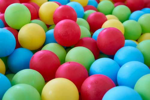Ball Game Toy Colors Background Texture Macro