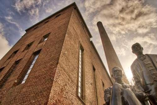 Bauhaus Architecture Sky Backlighting Hagen