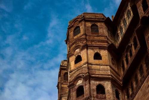 Blue Sky Mehrangarh Fort Jodhpur Heritage Historical