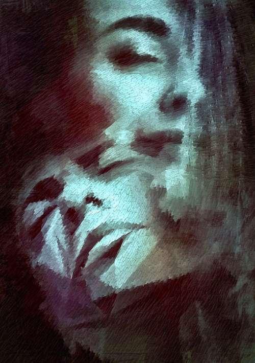 Book Cover Portrait Surreal Face Fantastic Dream