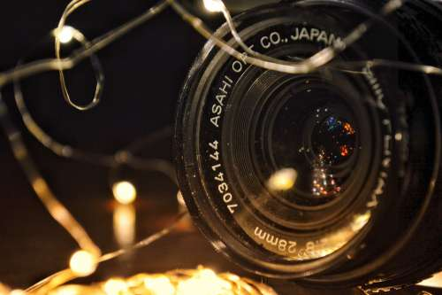 Camera Lens Pentax Lights Focus Fire