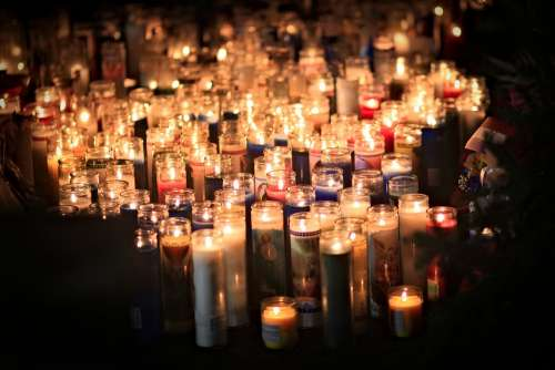 Candles Memorial Mourning Sadness Candle Symbol