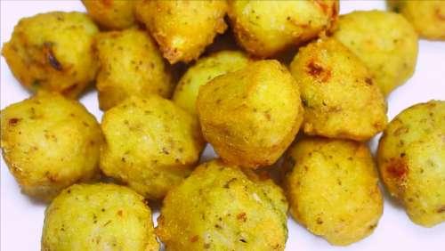 Chawal Balls Rice Balls Snacks Indian Veg Recipe