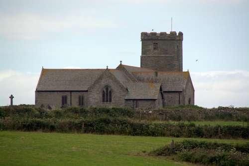 Church Tintagel Cornwall Building England Uk