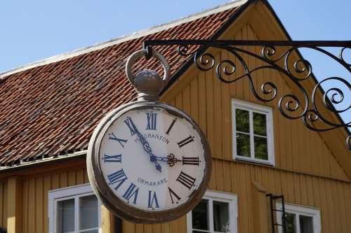 Clock Old Sweden Time Pocket Watch Retro Hours