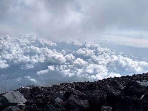 Clouds Mountain Sky Mount Fuji Rock