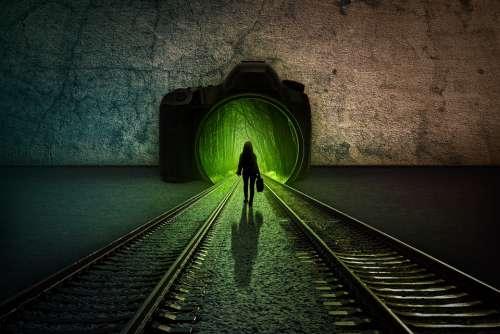Composing Rails Mystical Track Forest Light
