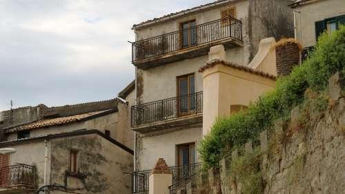 Crosia Calabria Building Houses Architecture Sea