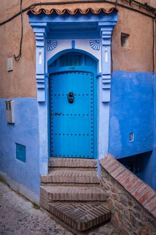 Door Colors Blue Architecture Arabic Morocco