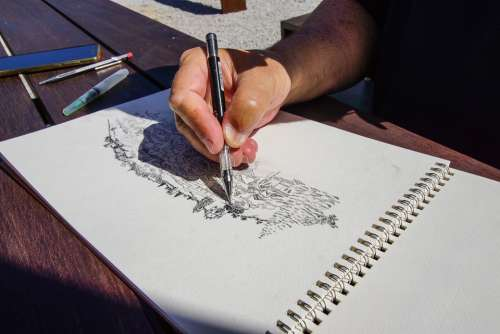 Drawing Art Santiago Alentejo Nature Design