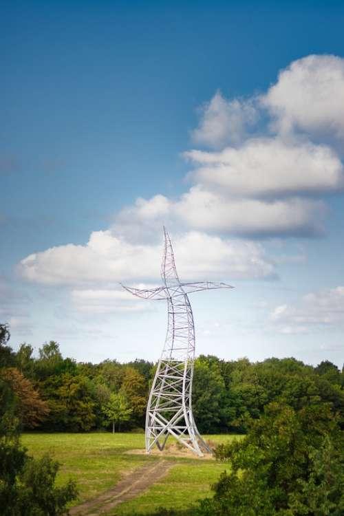 Energy Current High Voltage Strommast Pylon Sky